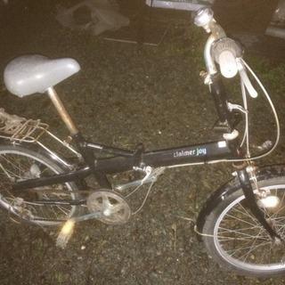 (受け付け終了)ジャンク 6段変速 折り畳み自転車 錆びあり。