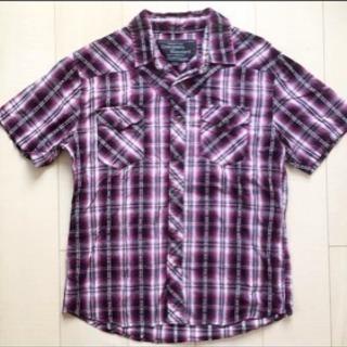 [メンズ]半袖 チェック シャツ