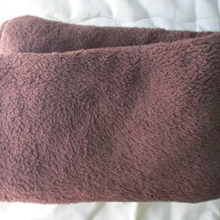 毛布 枕セット 茶色 ブラウン