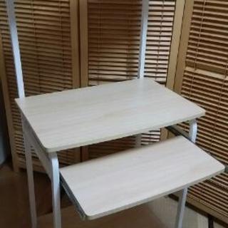 交渉中))パソコンデスクと椅子と透明マットセットです。