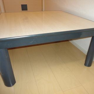 【中古】こたつテーブル(グレー)正方形 75×75cm 両面天板(...