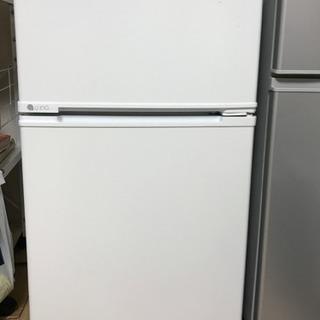 美品○冷蔵庫○ノンフロン88リットル白ユーイング