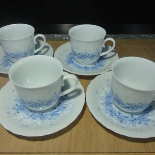 3D062 コーヒーカップ & 中皿4セット  各4