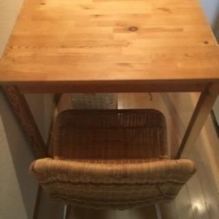 机と椅子(木製)
