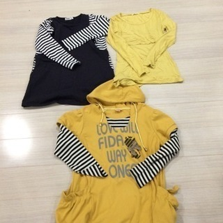 値下げ)マタニティ授乳服・産前産後用3枚セット