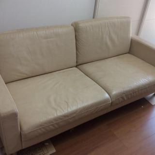 無印良品 ソファー 革製の画像