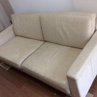 無印良品 ソファー 革製 - 家具