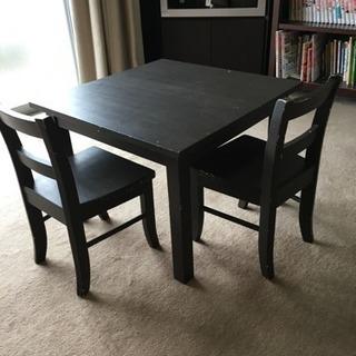 ポッタリーバーン★子供用机と椅子の二脚をセットで