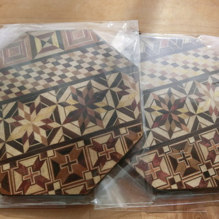 寄木細工コースター2枚セット 未使用 伝統工芸品 日本文化