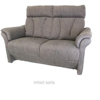 【美品】ニトリ ソファー 二人掛け 布製 組み立て式 ファブリック...