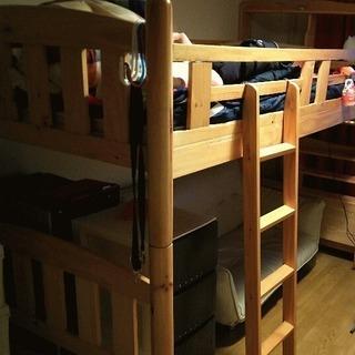 木製ロフトベッド。葛飾区に引き取りOKな方!