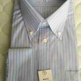 ダンヒルのワイシャツ青系(未使用、東急百貨店オールオーダー品)