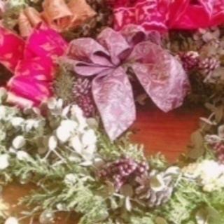 インデコカフェ 〜12/4クリスマスリース or スワッグのワーク...