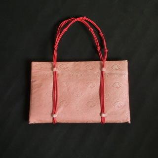 <値下げしました>【未使用】 和装用 バッグ サーモンピンクの画像