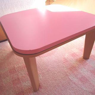 □ こたつ ピンク色 正方形 □