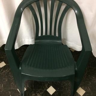 イタリア製  緑の椅子