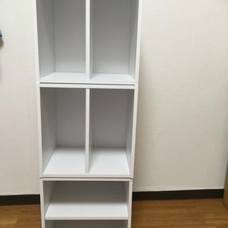 カラーボックス 本棚 白3コセット