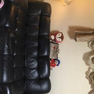 黒革ソファー中古 ベット