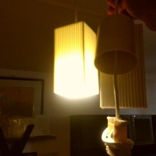最終!大幅値引き!陶器製 ペンダントライト 2点セット