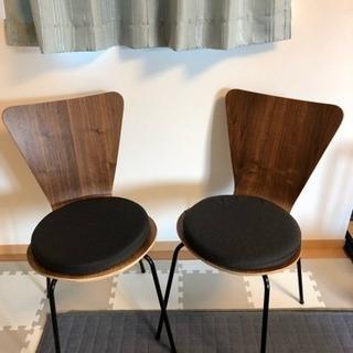 【美品中古】チェアー 椅子二脚セット