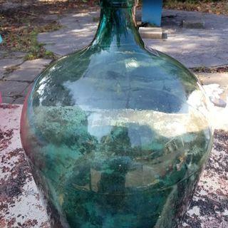 デミジョンボトル緑硝子瓶大アンティーク