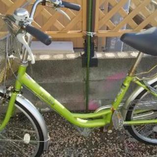 値下げ)自転車24インチパンクなし。23年購入