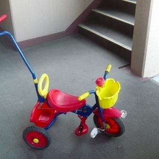 値下げ!三輪車 折り畳み機能付き 古いですが、乗れます