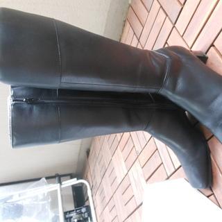 黒のロングブーツ★サイズ24・5