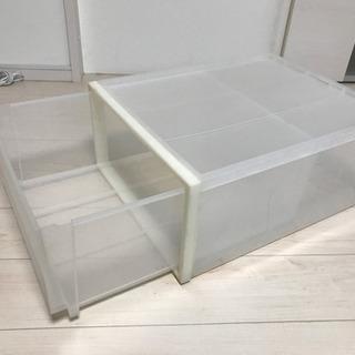 無印良品クリアケース 引き出し式 奥行54.5 - 家具