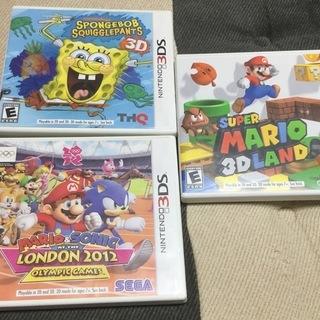 海外版 3DSソフト 3本 マリオ他