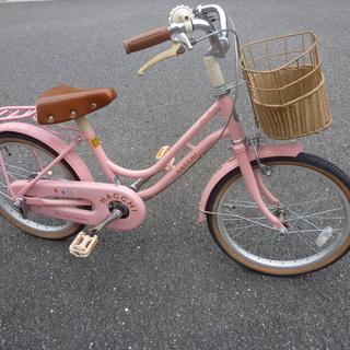 子供用中古自転車 18インチ ピンク