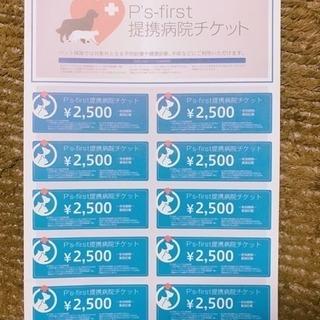 ペットの病院チケット 25000円分