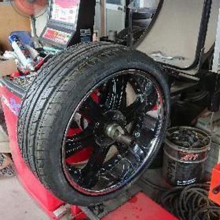 持ち込みタイヤ スタッドレス等の組換えします。