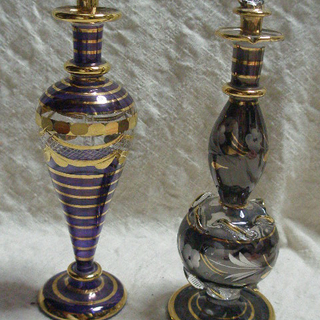 未使用♡エジプト製 ガラス香水ビン 2本セット