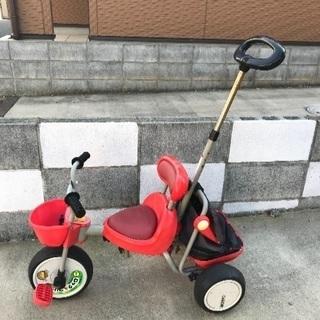 子供 赤ちゃん 三輪車 赤 カゴ付き