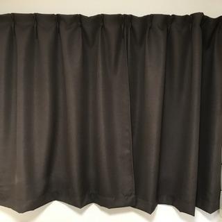 135cm 出窓用一級遮光カーテン 2枚セット ブラウン
