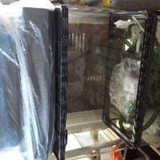 熱帯魚飼育 60センチ水槽が2つ & ろ過装置、パネルヒーター、ラ...