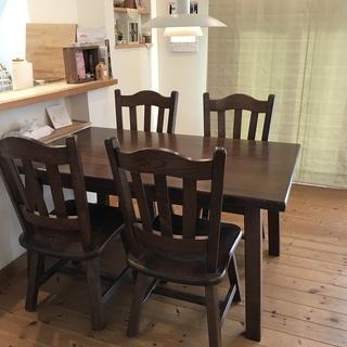 起立木工ダイニングテーブルセット輸入家具