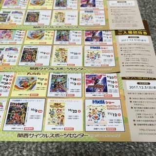 関西サイクルスポーツセンター入場券