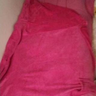 ピンクの掛け布団&毛布