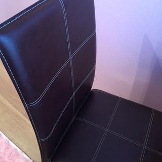 訳あり家具★椅子、チェアー、茶色ダイニングチェア