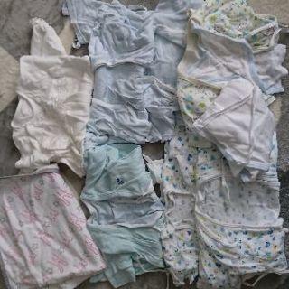 新生児の肌着・ベビードレス・おくるみ他セット