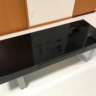 【売ります】リビングセンターテーブル(ブラック) UV塗装 鏡面仕...