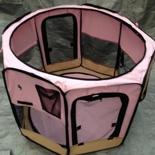 ◯ 新品 折りたたみペットサークル八角形 ピンク ottostyle ◯