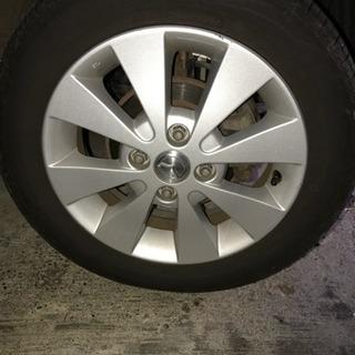 値下げ‼️夏用タイヤ、アルミ付き4本