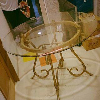 ガラス円テーブル
