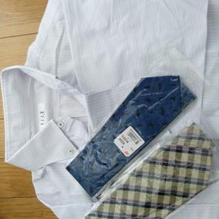 ★ELLE Hommeワイシャツと未使用(袋中)ネクタイ2本★