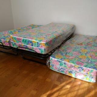 折りたたみベッド 5台シングルサイズ