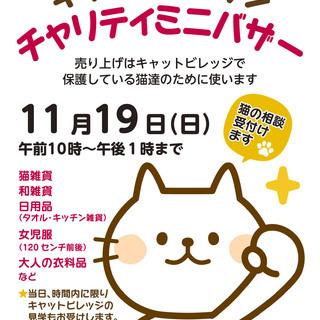 保護猫のためのチャリティミニバザーを開催します!