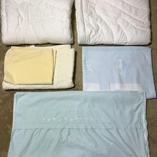 寒い冬西川リビング☆ベビー布団5点セットと綿毛布